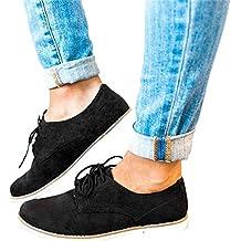 Baskets en Daim Lacets Femme,Overdose Mode Hiver Chaussure Talon Compensé  Plateforme Ankle Boots 81c247a9fa4e