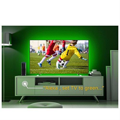 WiFi LED TV Hintergrundbeleuchtung Streifen, Kompatibel mit Alexa und Google Home, USB (5V DC), flexible RGB 5050Streifen, colour-changeable dimmbar LED Strip by singhong