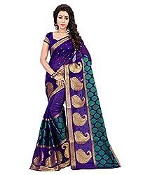 Buyonn Women's Silk Saree (saree1_Purple_Free Size)