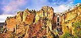 lunaprint Malaga City On The Rock Andalusia Spain Europe