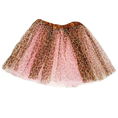 Qissy® Mädchen Tütü Tutu Petticoat Ballettrock (Leopard)