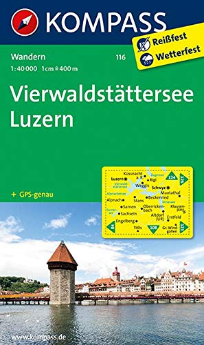 KOMPASS Wanderkarte Vierwaldstätter See - Luzern: Wanderkarte. GPS-genau. 1:50000: Wandelkaart 1:40 000 (KOMPASS-Wanderkarten, Band 116)