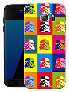 """Humor Gang Retro Alien Printed Designer Mobile Back Cover For """"Samsung Galaxy S7"""" (3D, Matte Finish, Premium Quality, Protective Snap On Slim Hard Phone Case, Multi Color)"""