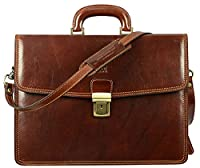 Leather Briefcase, Leather Briefcase Attache, Leather Briefcase Vintage, Laptop Bag Brown - Time Resistance