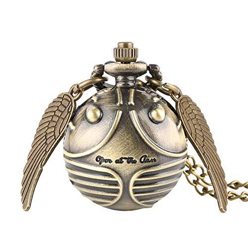 Harry Potter Quarz-Taschenuhr Golden Snitch Fob Uhren mit Halskette Kette Weihnachten Geschenk für Jungen Mädchen