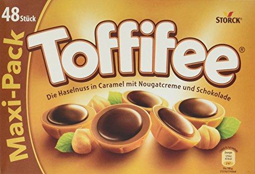 Toffifee - Eine knackige Haselnuss in einer leckeren Karamell-Schale, zarte Nougatcreme und ein Klecks kräftige Schokolade - Toffifee 48er, 8er Pack (8 x 400g Packung) -