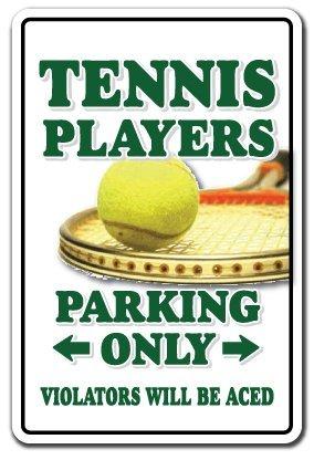 Schild aus Aluminium mit Zitat für Tennisspieler, Parkschuhe, Ball, Schläger, Geschenk für Teamunterricht, Trainer, Court, Metall, Geschenkschild, Wandschild, Dekoration -