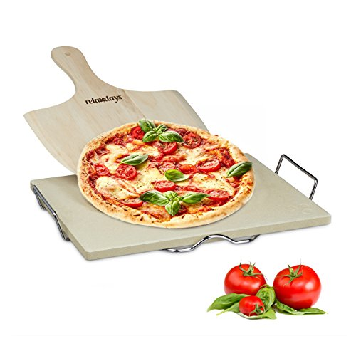 Relaxdays - Piedra para Pizza, 1.5 x 38 x 30 cm, Rectangular,...