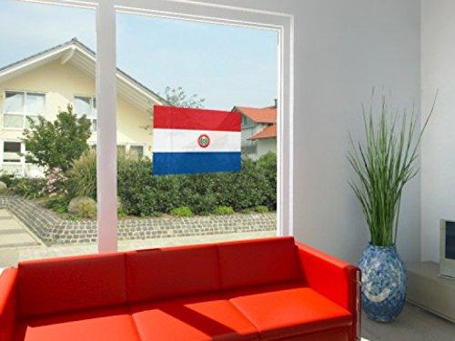 1art1 49401 Paraguay - Flagge Für Fenster Aufkleber Poster-Selbstklebendes Fensterbild 42 x 27 cm