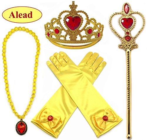 Prinzessin Verkleiden (Alead Prinzessin Verkleiden Sich Belle Gelb 4 Stück Geschenk-Set)