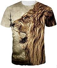 Ularma Camisetas de los hombres, 3D impresión, verano de manga corta blusa Tops