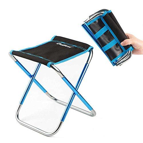 FOONEE Mini Campingstuhl Kleiner Klappstuhl Mini Tragbarer Stuhl für Strand, Picknick, Party, Camping, Grill, Angeln, Wandern, Schwarz