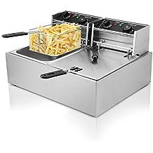 Autocompra Freidora Eléctrica 20L 5000W Freidora Industrial Acero Inoxidable para Patatas Fritas Deep Fryer Commercial (