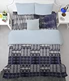 Spaces Youthopia 180 TC Cotton Single Bedsheet with 2 Pillow Covers - Dark Blue