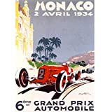Monaco 1934 Vintage Poster
