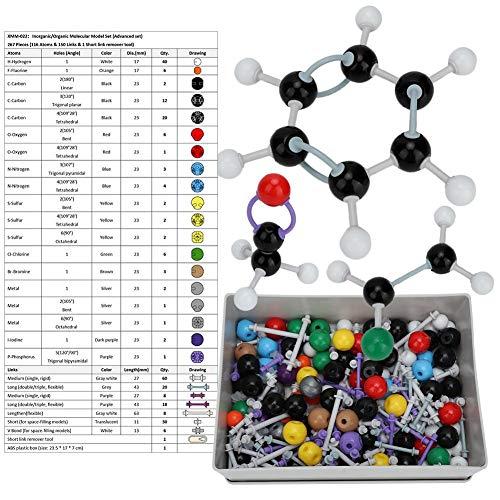 267 pezzi set di modelli molecolari kit modello di chimica modelli di molecole organiche per insegnanti studenti scienziato classe di chimica