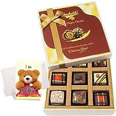 Chocholik Luxury Chocolates - 9pc Sweet Delight Chocolate Gift Box With Sorry Card