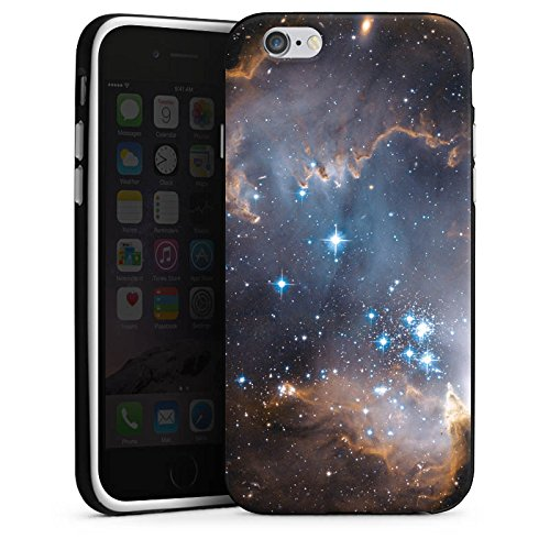 Apple iPhone X Silikon Hülle Case Schutzhülle Sterne Galaxie Universum Silikon Case schwarz / weiß