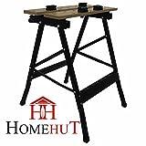 Home Hut Tragbare, klappbare Werkbank, strapazierfähig, 125kg, Holz
