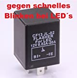 CARCHET® CARCHET Blinkrelais 3PIN Blinker Relais für LED Blinker B.L.E Typ 12V Gefragt