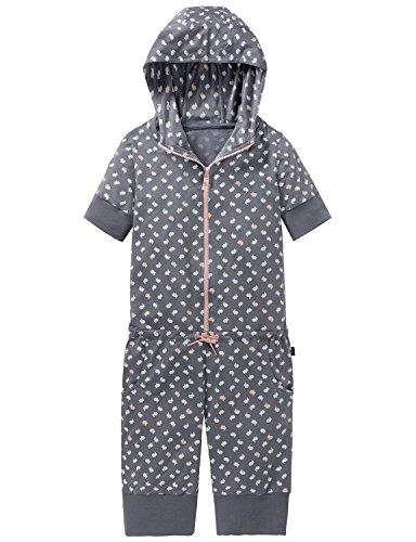 Schiesser Mädchen Einteiliger Schlafanzug Mix & Relax Jumpsuit Grau (Grau 200), 152