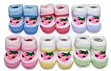 #9: Camey Baby Socks Strawberry Design Terry Multi Color (Pack Of 6 )