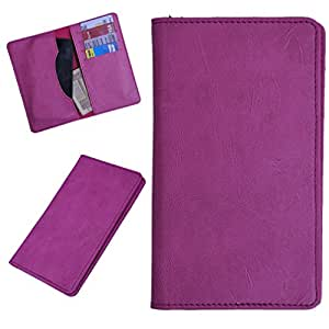 DCR Pu Leather case cover for Karbonn A19 (pink)
