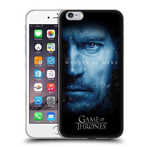 Offizielle HBO Game Of Thrones Jon Snow Winter Is Here Soft Gel Hülle für Apple iPhone 6 Plus / 6s Plus Jaime Lannister