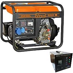 60211 Generador corriente VINCO 4 tiempos 5,5kw diesel 10 HP avv. eléctrico 418c