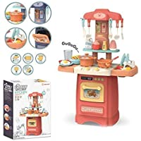 TECHTOY Pretended 29-Piece Kitchen Set, Music,Real Water Tap, Actually Fell of Kitchen for Your Kids Don,t Miss It (29 pcs)