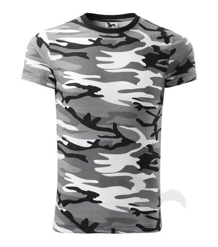 Camouflage Shirt Classic Army Style T-Shirt Kurzarm in Tarnfarbe grau -