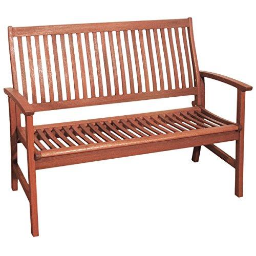 Gravidus gemütliche Bank aus Holz, 2-Sitzer
