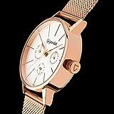 Gigandet Quarz Damen-Armbanduhr Minimalism Multifunktion Uhr Datum Analog Edelstahlarmband Rotgold Silber G38-008 - 4