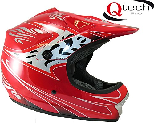Casque de moto-cross - enfant - Rouge - S (53-54 cm)