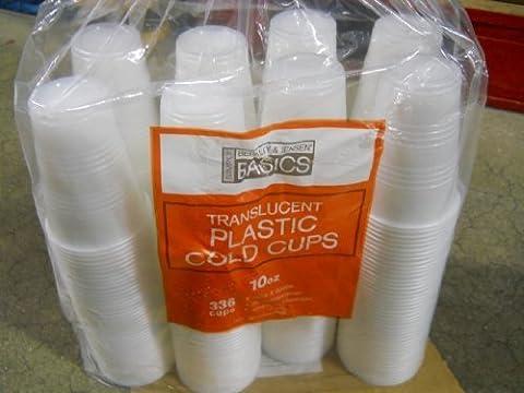 Berkley&jensen Translucent Plastic Cold Cups 10 Oz 336 Cups by Berkley and Jensen