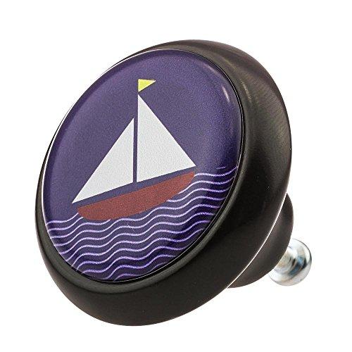 Möbelknopf Möbelknauf Möbelgriff Schiff Segelschiff Meer 03416S aus über 4 0 verschiedenen Farben Mustern und Designs für Kinder Kinderzimmer Kindermöbel