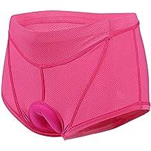 Lixada Las mujeres ciclismo ropa interior pantalones Gel 3D acolchada bici bicicleta rosa (M(CN)=S(EU))