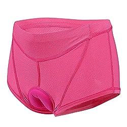 Lixada Damen Unterhose Radsport Underwear Pants Gel 3D Gepolsterte Bike Fahrrad, Gr.-S(EU)=M(CN), Rosa