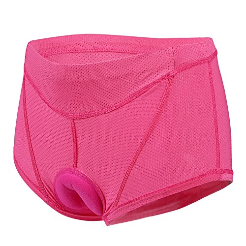 Lixada Damen Unterhose Radsport Underwear Pants Gel 3D Gepolsterte Bike Fahrrad, Gr.-L(EU)=XL(CN), Rosa