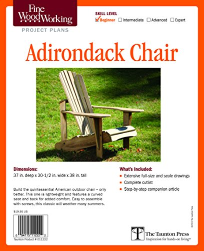 Fine Woodworking's Adirondack Chair Plan (Fine Woodworking Project Plans)