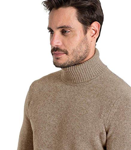 WoolOvers Lambswool Rollkragen-Pullover für Herren (Lambswool) - L20 Soft Pepper