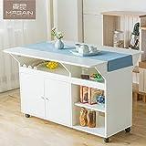 Nclon Zusammenklappbar Skalierbar Storage Funktion Esstisch,Multifunktion Entfernbar Schreibtisch Für Kleine Familie Schlafzimmer-B