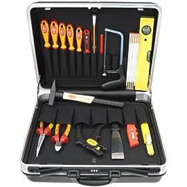 valigetta CRV in alluminio cacciavite martello Cassetta degli attrezzi HHK5B valigetta portautensili 177 pezzi set di chiavi pinze TACKLIFE