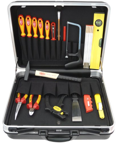 Famex, Set di attrezzi per elettricista, in valigetta 25 litri, 18 pz. - 679-10