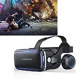 WANZIJING 3D VR Virtuelle Reality-Gläser mit Kopfhörern VR-Brillen für 4,7-6,0 Zoll 3D VR Filme Videospiele