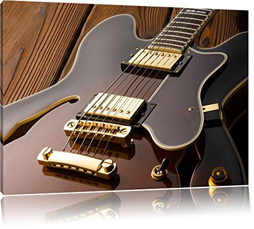 E-Gitarre Format: 80x60 cm auf Leinwand, XXL riesige Bilder fertig gerahmt mit Keilrahmen, Kunstdruck auf Wandbild mit Rahmen, günstiger als Gemälde oder Ölbild, kein Poster oder Plakat (Elektronische Plakate)