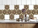Küche Fliesen Aufkleber Alte Mozaics Vinyl Film für Badezimmer Wand Fliesen Ideen verschiedene Größen - 16pcs