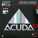 Donic, gomma per tennis da tavolo, Acuda S3, Black, 2.0 mm