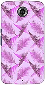 The Racoon Lean printed designer hard back mobile phone case cover for Google Nexus 6. (Lilac Flyi)