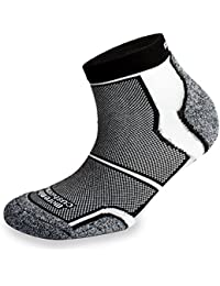 3 Pairs More Mile New York Cushioned Coolmax Sports Running Socks - Black
